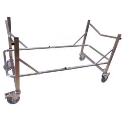 Support brancard inox 4 roues - Diam 125