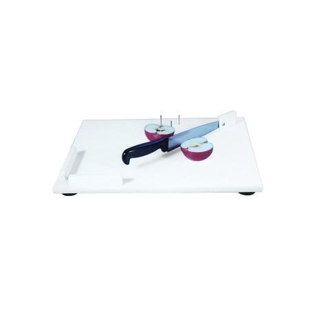 Planche à découper avec couteau intégré