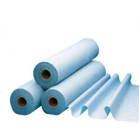 Rouleau examen plastifié 50 x 38cm bleu - Carton 6