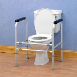 Cadre de toilettes mobile aluminium