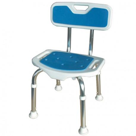 Siège de douche Blue Seat avec dossier et assise réglable