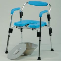 Chaise 3 en 1 - douche - garde robe - cadre WC
